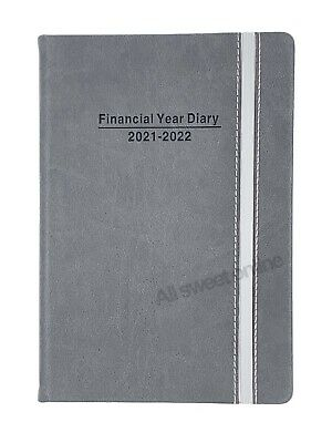 AU19.95 • Buy 2021 2022 Financial Year Diary Grey Hard Cover With Elastic Day To View A5