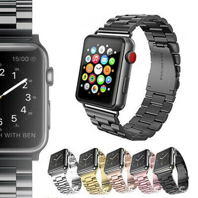 AU15.99 • Buy For Apple/Watch IWatch Series 5 4 3 2 1 Stainless Steel Watch Band 38/42/40/44mm