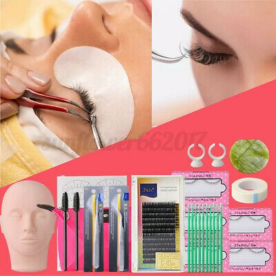 AU28.47 • Buy 13 In 1 Mannequin Head Lash Eyelash Extension Kit Curler Makeup Training Set New