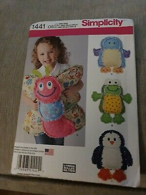 Simplicity Rag Quilted Animal Pillows Craft Sewing Patterns 1441 • 8.99£