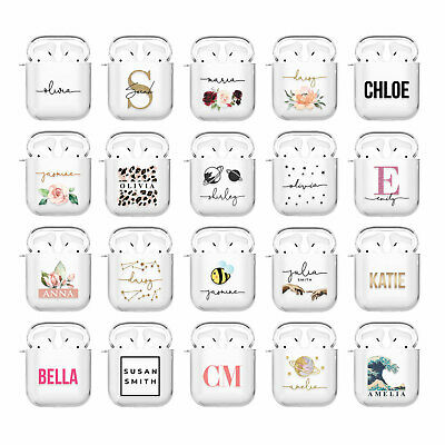 $ CDN2.62 • Buy Personalised AirPods Case Cover 1 2 Pro Cute Designer For Girls Apple Earpods