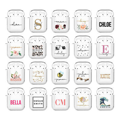 AU10.64 • Buy Personalised AirPods Case Cover 1 2 Pro Cute Designer For Girls Apple Earpods