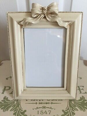Shabby Chic Cream Past Times Style Heavy Standing Photo Frame • 12.99£