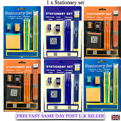 School Stationary Set Pens Ruler Hb Pencil Note Pad Stationery Back To Class • 2.49£