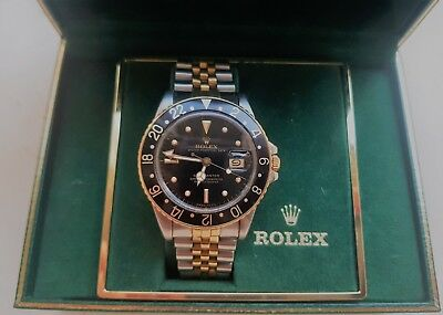 $ CDN13110.93 • Buy Rolex Gmt Master Gold/steel Ref 16753 Nipple Dial