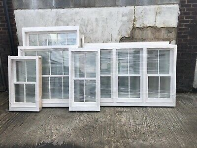 Timber Sliding Box Sash Window Made To Meausure Double Glazed Fensa Registered  • 450£