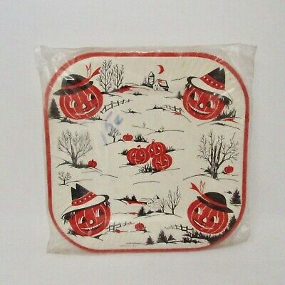$ CDN165.14 • Buy Vintage Halloween Paper Plates Sealed 6 Plates House Of Paper USA 1930's/40's JO