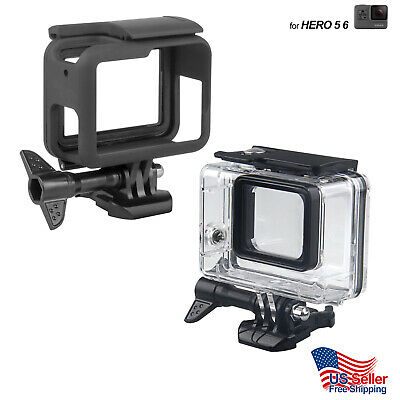 $ CDN13.31 • Buy Gopro Housing Hero 3 4 5 6 7 Session Underwater Waterproof Diving Frame Case Lot