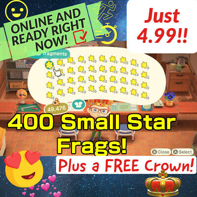 $4.99 • Buy 400 Small Star Fragments AnimalCrossing FAST DELIVERY! ACNH Celeste