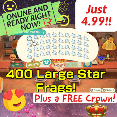 $4.99 • Buy 400 Large Star Fragments AnimalCrossing FAST DELIVERY! ACNH Celeste