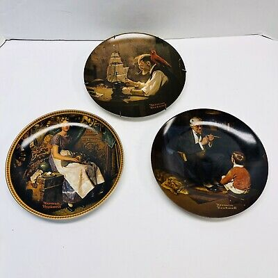 $ CDN19.41 • Buy Norman Rockwell Collectible Plates Lot Of 3