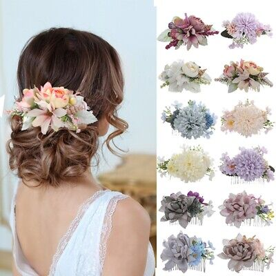$ CDN4.47 • Buy Women's Flower Hair Comb Wedding Hair Clips Pins Bridal Hair Accessories Wedding