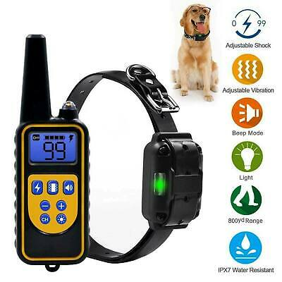 800m Waterproof Pet Dog Training Collar Rechargeable Electric Shock LCD Display • 21.25£