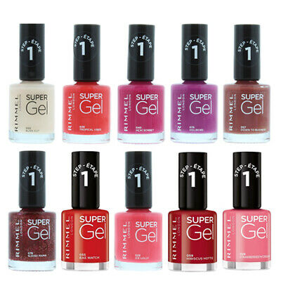 Rimmel London Super Gel Nail Polish Varnish Paint Colour 12ml ** Select Shade ** • 3.49£