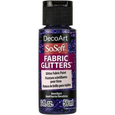 DecoArt SoSoft Glitter Acrylic Fabric Paint 59ml (2oz) • 3.49£