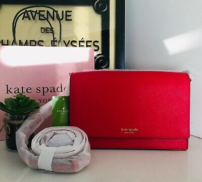 $ CDN119 • Buy Kate Spade Bag Red Convertible Cameron Saffiano Leather Bag.  New With Tags.