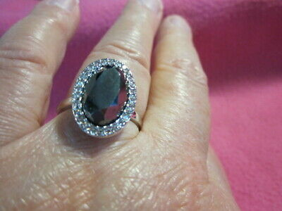 $ CDN19.95 • Buy Lia Sophia Black Hematite Cocktail Ring Crystal Surround Size 10