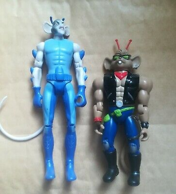 2x Biker Mice Action Figures Pre-owned  • 4.99£