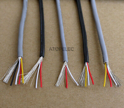 £4.19 • Buy 1M/5M UL2547 Copper Wire Shielded Audio Headphone Signal Cable Cord 2/3/4 Cores