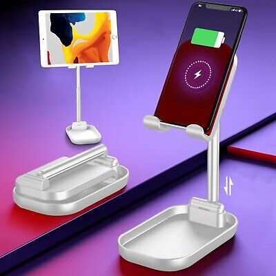2 In 1 Portable Wireless Phone Charger And IPhone/iPad/tablet(3.5-12.9 ) Stand • 10.85£