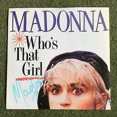 £99.99 • Buy MADONNA : Who's That Girl (1987) SIGNED 7  Vinyl Single