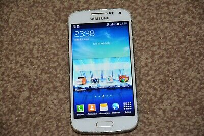 £23.47 • Buy Samsung Galaxy S4 Mini GT-I9195 - 8GB - White Frost (O2) Hairline Crack