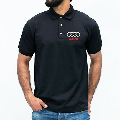 £11.99 • Buy Audi Polo T-shirt Quattro Tt R8 S3 A3 Sport Racing Dad Fathers Car Gift MENS Top