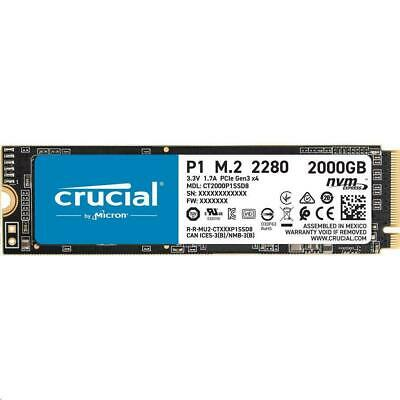 AU345 • Buy Crucial P1 2TB SSD M.2 PCIe NVMe 3D NAND Internal Solid State Drive 2000MB/s