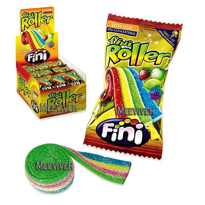 Fini Roller Fruit Flavoured Rainbow Belts Retro Sweets - 5, 10, 20, 40 Full Box • 4.49£