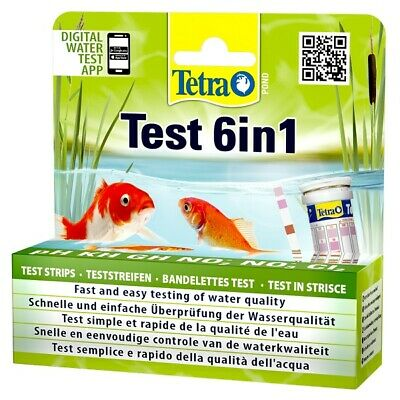 £13.49 • Buy Tetra Pond 6 In 1 Quick Water Test Kit For PH, N02, NO3, KH, GH, CL2 Strip Tests