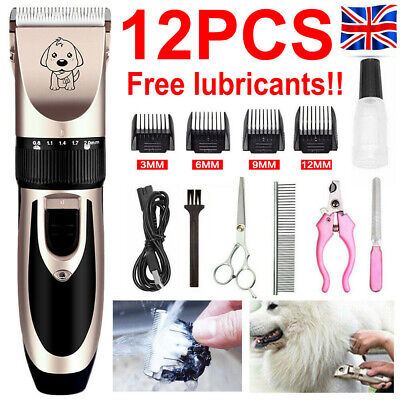 12 IN 1 USB Pet Dog Grooming Clipper Thick Fur Hair Trimmer Electric Shaver Set • 14.99£
