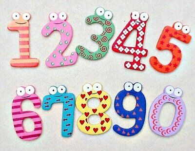 Funky Fun Colourful Wooden Magnetic Numbers Alphabet Letters Fridge Magnet Toy • 2.69£