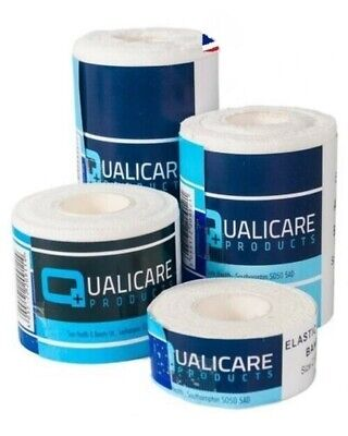Qualicare Elastic Adhesive Bandage Sport Muscle & Joint Support Tape Strapping • 9.99£