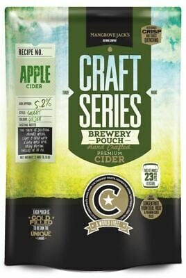 MANGROVE JACK'S Craft Series 40 Pints Apple Cider Pouch Kit  - Home Brew Making • 25.95£