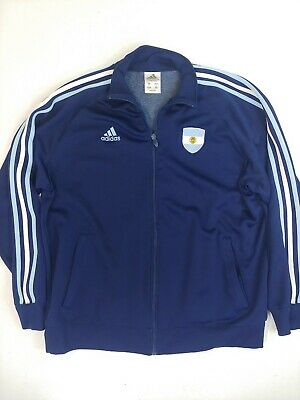 $ CDN29.99 • Buy Adidas Argentina Zip Up Track Jacket Size Large Embroidered Trefoil