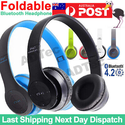 AU12.95 • Buy Noise Cancelling Wireless Headphones Bluetooth 4.2 Earphone Headset With Mic Hot