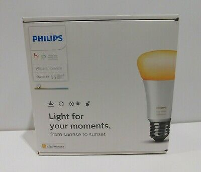 AU144.49 • Buy Philips Hue White Ambiance Smart Bulb Starter Kit - Edison Screw E27