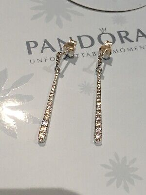 Genuine Pandora Silver Shooting Shooter Drop Cz Stars Earrings S925 ALE 296357cz • 19.50£