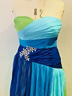 Grace Karin Blue Long Maxi Dress For Any Wedding/party Occasion Ladies Size 16 • 60£
