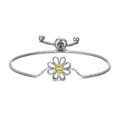 Daisy Crystal Friendship Bracelet Created With Swarovski® Crystals • 8.95£