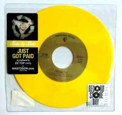 NEW! ZZ Top Just Got Paid / Mastodon Limited Edition Yellow Coloured Vinyl RSD • 29.99£