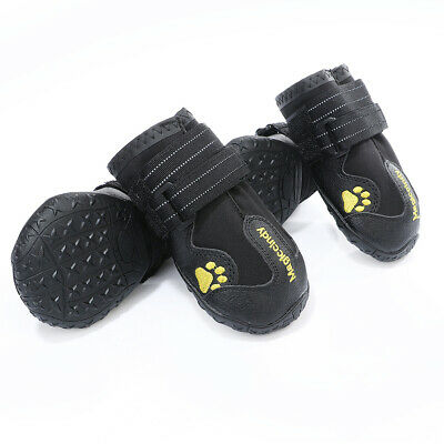 £12.25 • Buy Large Dog Rubber Non Skid Shoes Snow Boots Socks Reflective Waterproof For Husky