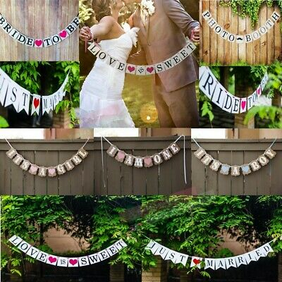 Baby Shower Wedding Party Bunting Banner Wedding Bunting Banners Card Photo Prop • 3.99£