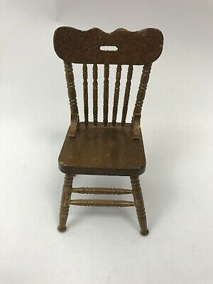 $9.99 • Buy Vintage Dollhouse Chair Furniture Wooden Spindle Side Dining Room Kitchen Taiwan