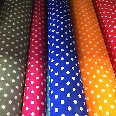 PIN SPOT POLYCOTTON FABRIC - Choice Of Colours 2, 45 /115cm By The Metre • 3.50£