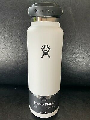 $39.95 • Buy Hydro Flask 40oz Wide Mouth Stainless Bottle W/ Flex Cap-WHITE