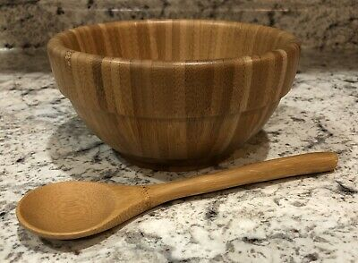 $9.99 • Buy Pampered Chef Bamboo Bowl And Spoon 0510 - Single Bowl & Spoon