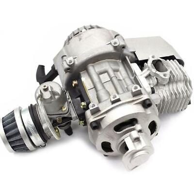 AU69.23 • Buy Silver 49CC 2 Stroke Pull Start Engine Motor For Pocket MINI Quad Bike Scooter A
