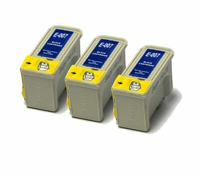 3x Black Compatible (non-OEM) Ink Cartridges To Replace T007 • 9.98£