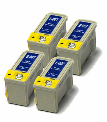 4x Black Compatible (non-OEM) Ink Cartridges To Replace T007 • 10.98£